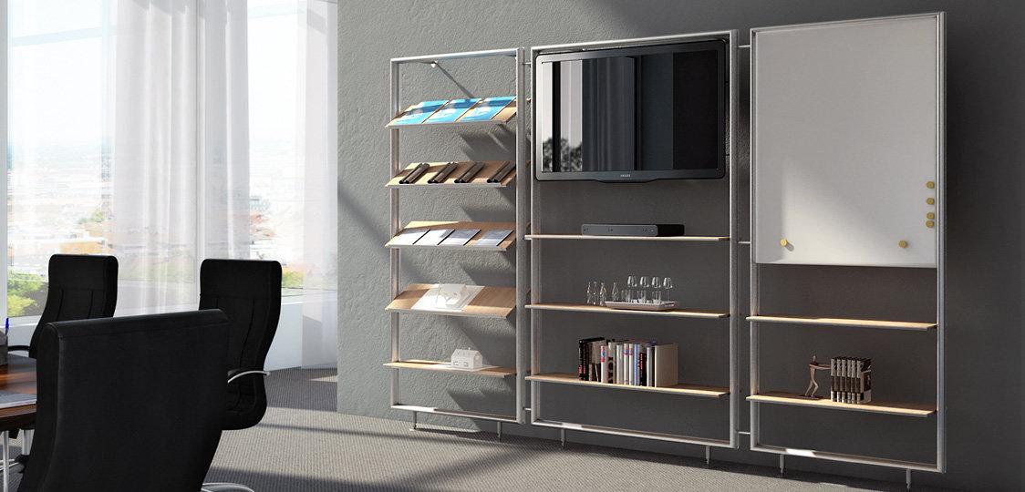 regale mit system von inprojekt gmbh. Black Bedroom Furniture Sets. Home Design Ideas